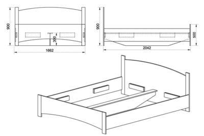 krevati-ksilino-160x200-oak-sonoma-dark-stroma-classic-2