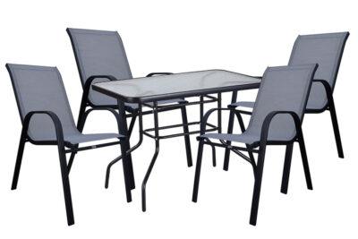 set-trapezaria-kipou-5-temaxion-100x60-mavri-gkri-karo-best-rio