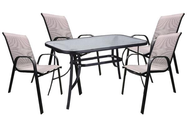 set-trapezaria-kipou-5-temaxion-120x70-mavri-gkri-karo-best-best