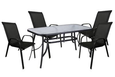 set-trapezaria-kipou-5-temaxion-140x80-mavri-mavri-best-best