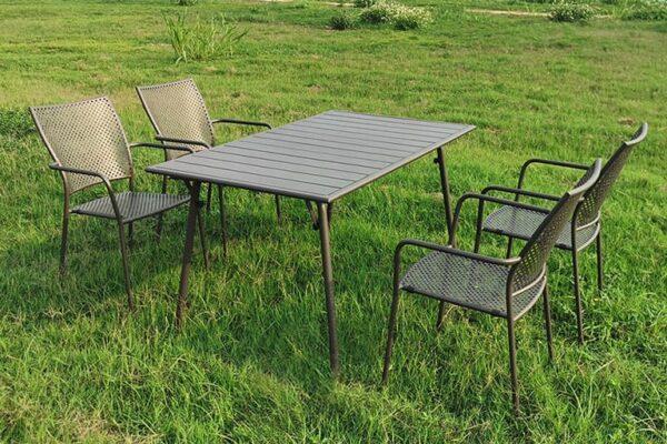 set-trapezaria-kipou-metalliki-5-temaxion-140x80-kafe-fiera-slat