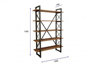 vivliothiki-5-rafia-100x24x150-mavro-sonoma-metal-2